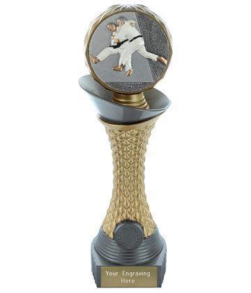 "Judo Trophy Heavyweight Hemisphere Tower Silver & Gold 28cm (11"")"