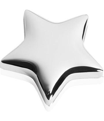"High Polished Silver Metal Star Memo Magnet 4cm (1.5"")"