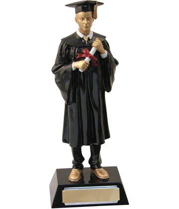 """Male Resin Graduation Achievement Trophy 23.5cm (9.25"""")"""
