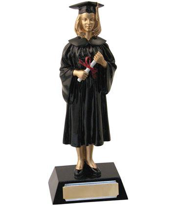 """Female Resin Graduation Achievement Trophy 23.5cm (9.25"""")"""