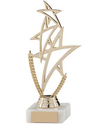 "Gold Rising Star Multi Award Trophy 18cm (7"")"