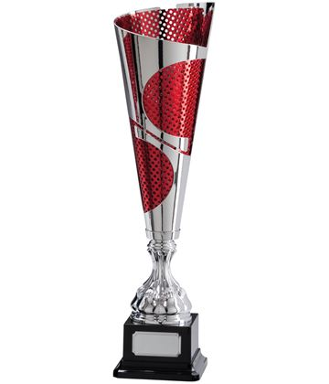 "Quest Laser Cut Silver & Red Cup 38.5cm (15.25"")"