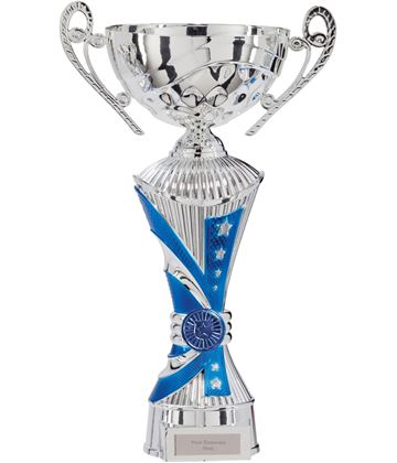 "All Stars Heavyweight Cup Silver & Blue 34.5cm (13.5"")"