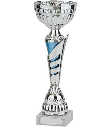 """Rio Vista Silver & Blue Metal Bowl Trophy Cup 34cm (13.25"""")"""
