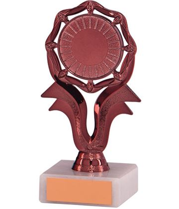 "Bronze 8 Point Circle On Riser Trophy 13.5cm (5.25"")"