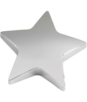"""Silver Star Paperweight 9cm (3.75"""")"""
