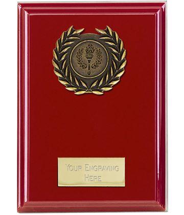 """Event Red Plaque 15cm (6"""")"""