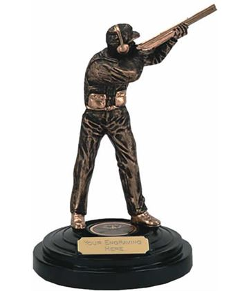 "Clay Pigeon Shooting Trophy Award 14.5cm (5.75"")"