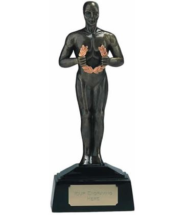 "Antique Gold Achievement Figurine Award Trophy 23cm (9"")"