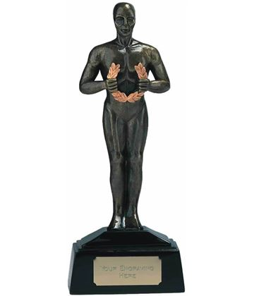 "Antique Gold Achievement Figurine Award Trophy 18.5cm (7.25"")"