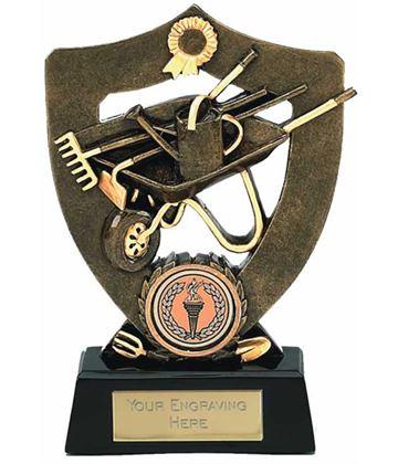 "Antique Gold Gardening Trophy Award 14cm (5.5"")"