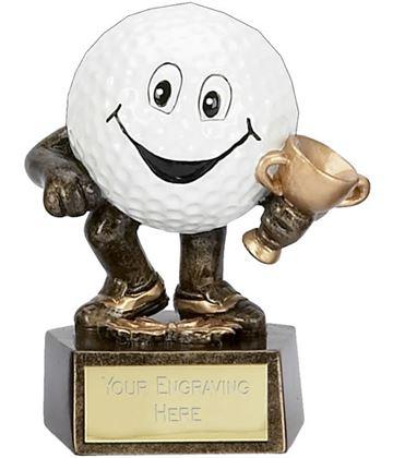 "Novelty Golf Club Character Trophy 9.5cm (3.75"")"
