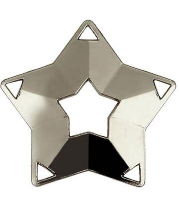 """Silver Mini Stars Medal 60mm (2.25"""")"""